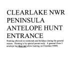 Clear Lake NWR Antelope Handout