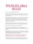 Honey Lake WLA Rules