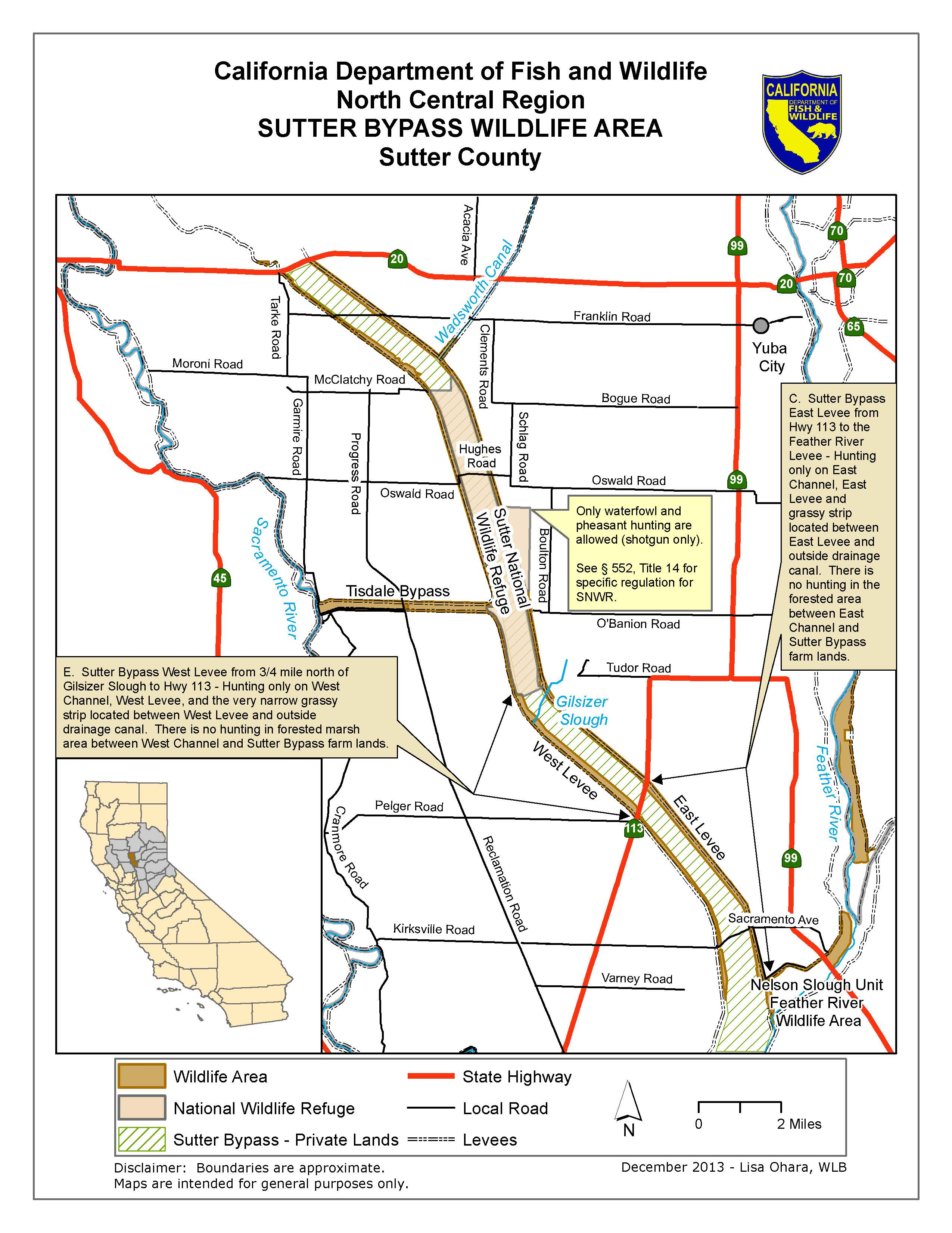 Sutter bypass wildlife area we 39 ve moved to www for California fish and game regulations
