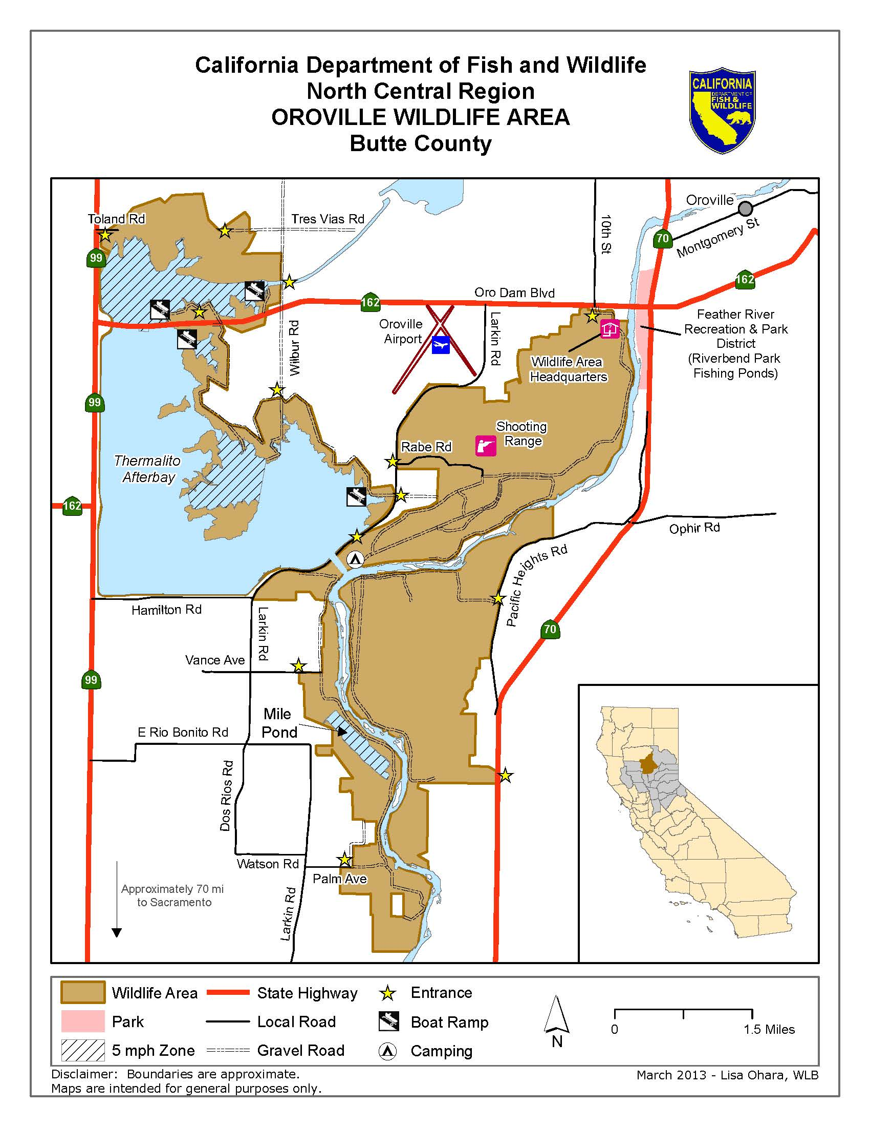 California Map Oroville.Oroville Wildlife Area We Ve Moved To Www Legallabrador Org