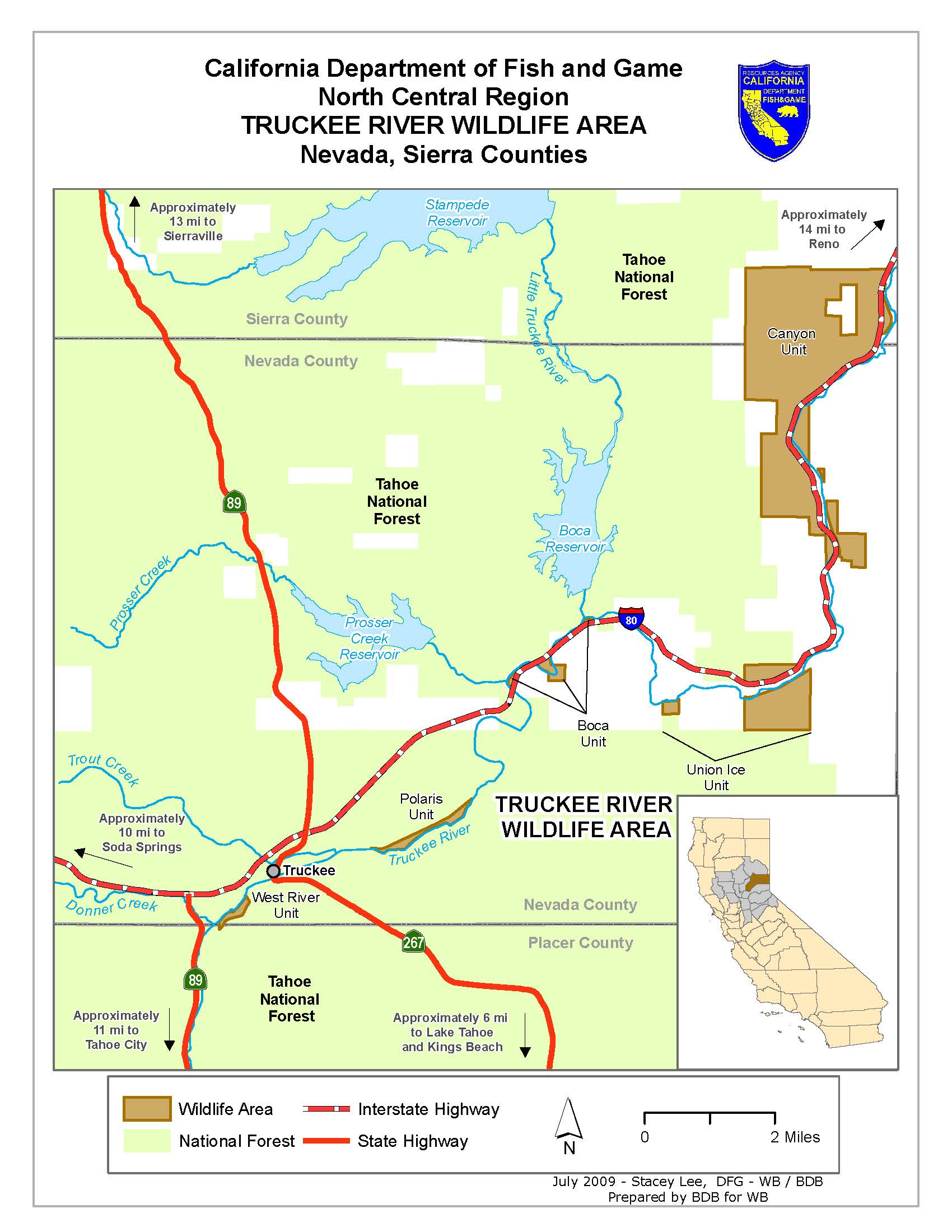 Truckee river wildlife area we 39 ve moved to www for California fish and game regulations