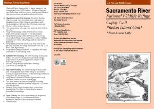 Sacramento River National Wildlife Refuge, Capay Unit