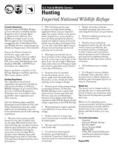 Imperial national wildlife refuge in California