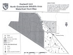 Hunt map for the Gadwall Unit of the North Grasslands widlife area in California